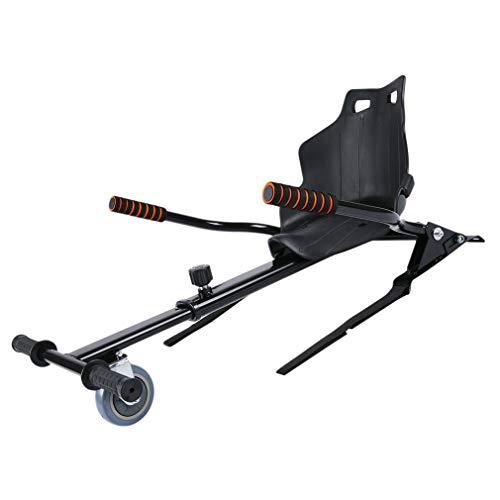 Asiento Kart Silla Self Balancing Compatible con Todos los Patinetes Eléctricos de 6.5, 8 y 10 Pulgadas,Max. Capacidad de carga: 120 kg,Longitud ajustable 72-93 cm,Negro(Excluyendo Patinete eléctrico)