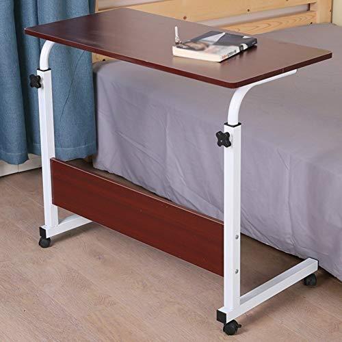 Laptop, kantoor, computer, tafel, staand, draagbaar, leestafel, multifunctioneel, in hoogte verstelbaar, 5 kleuren, maat 2 (kleur: eiken, grootte: 80 x 50 cm)
