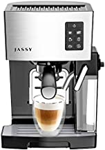 Espresso Coffee Machine Cappuccino Maker 19 Bar Fast Heating System with Powerful Milk Tank for Home Barista Brewing,Multiple Functions for Espresso/Cappuccino/Latte,One-Touch Brewing Function,1250W