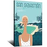 ASFGH San Sebastián Vintage-Reise-Poster, Dekor, Gemälde,
