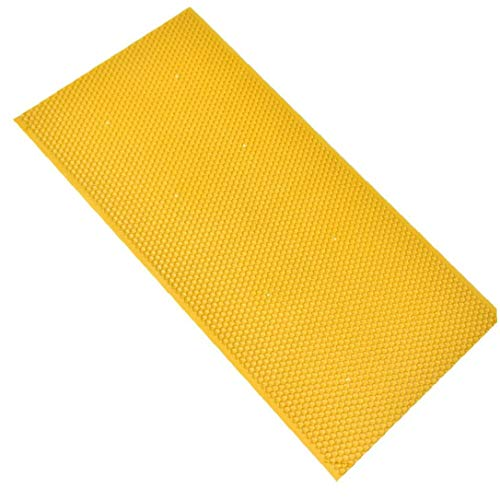 MaylFre Honeycomb Bienenwachs Foundation Kunststoff Honey Comb Basisblätter Bienenwabenhonig Rahmen Für Die Bienenzucht Ausrüstung Gelb 1 Stück