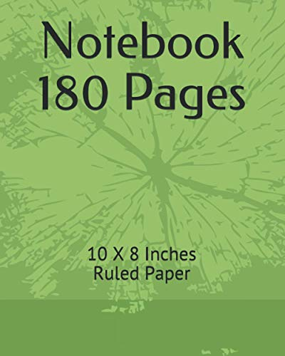 Notebook 180 pages: note 10.5 X 8 Inches, 3 Hole Punched, 180 Pages (90Sheets), 1 Notebook