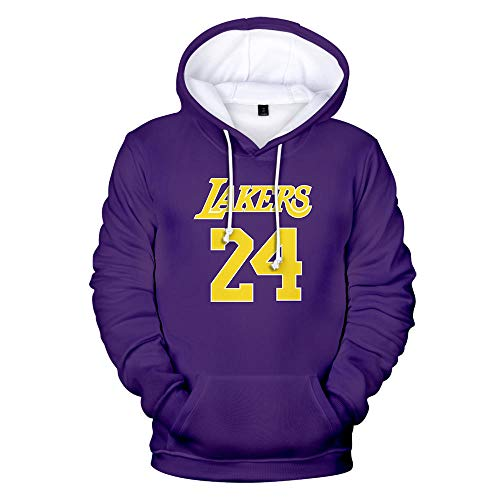 Kobe Bryant Lakers 24 Hoodies Pullover Casual Fashion Herren Damen Sweatshirts Hip Hop Streetwear Hoodies Kobe Bryant Hoodies