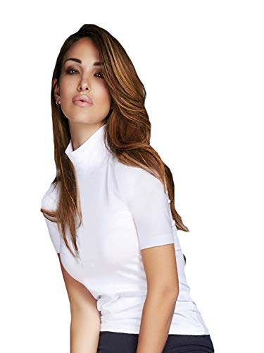 JADEA t-Shirt Lupetto Mezza Manica in Cotone Elasticizzato Art. 4062 (S/M, Blu)