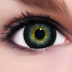 Circle Lenses graue Babe Grey ohne und mit Stärke + Behälter I 15mm I weich I 3 Monate anwendbar I Ohne und Mit Stärke