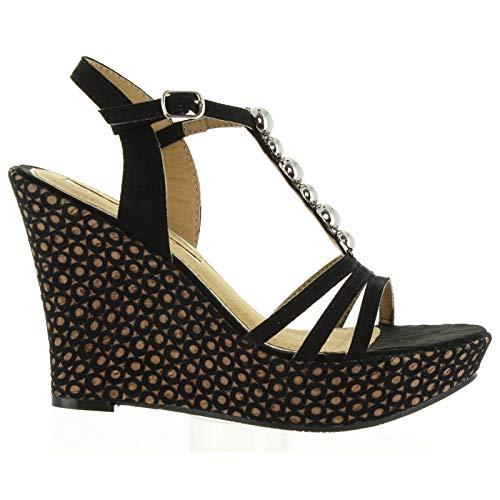 Maria Mare Sandalen für Damen 66339 C25627 SUEDI Negro Schuhgröße 41