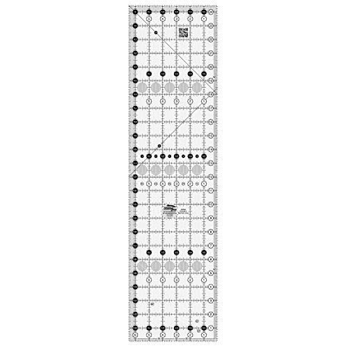 "Creative Grids 6.5"" x 24.5"" Rectangle Quilting Ruler Template, Designed by Designed by Rachel Cross, Patented Non-Slip Grip"