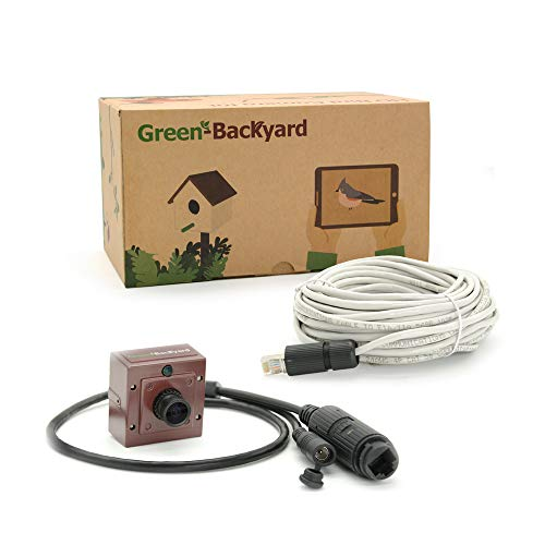 PoE Wired IP Birdhouse Camera with Audio, HD 1080P Invisible Infrared, View on Mobile Phone, Tablet or PC