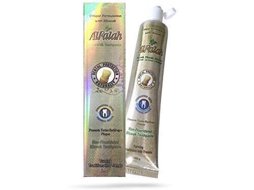 Alfalah MiswaCare Miswak Zahngel, mit natürlichen Gipskristallen, ohne Fluorid Zusätze, sehr ergiebig, halal, vegan, 100 g