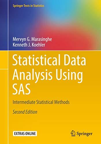 Statistical Data Analysis Using SAS: Intermediate Statistical Methods (Springer Texts in Statistics) (English Edition)