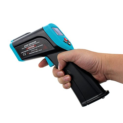 Allsun Digital Infrared Laser Thermometer -58℉~2462℉(-50℃~1350℃) Non-Contact for Food Safety and Fire InspectionsI Plastic Molding Watercraft Painting and Ink Temperature Checks Diesel Main