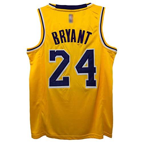 CHSC Lakers # 24 Kobe Bryant Fan Trikot Mesh Basketball Jersey Weste, Retro Version Präzisionsstickerei ärmelloses Unterhemd Hemd Tops Herren Jungen-A_M—Sportgeschenk