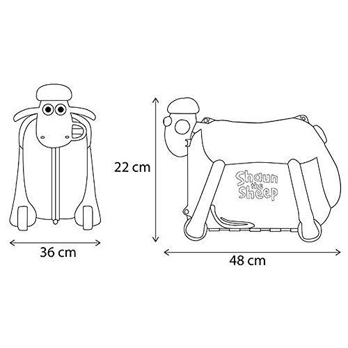 Shaun das Schaf Kinderkoffer (Rosa) - 3