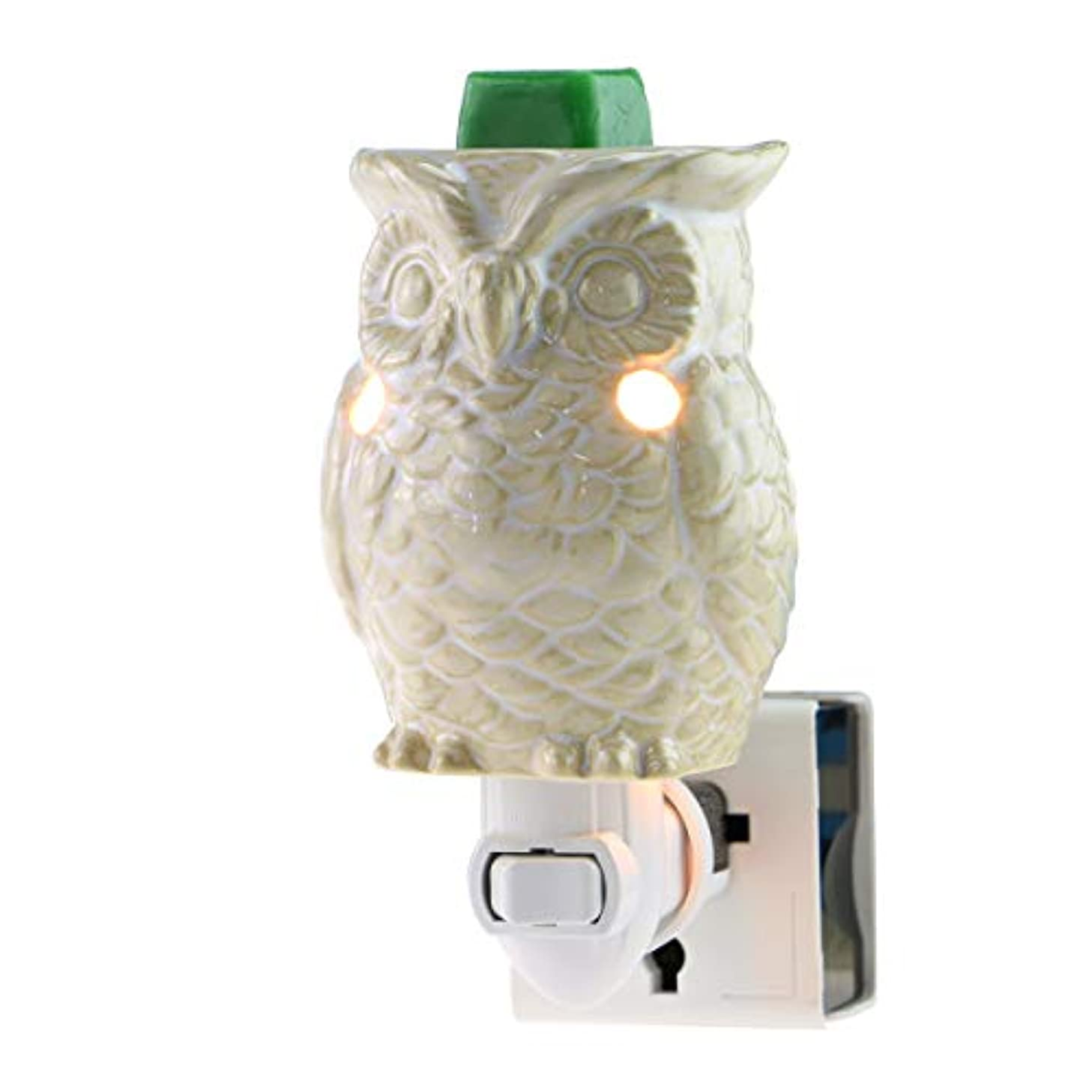 STAR MOON Plug in Wax Melt Warmer for Home Décor, Pluggable Home Fragrance Diffuser, 3D, No Flame, with One More Bulb (Owl of Athena)