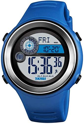 JSL Multi-función de deportes electrónica reloj brújula calle beat reloj inteligente paso contador electrónico reloj-azul
