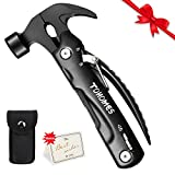 Unique Christmas Fathers Day Birthday Gifts for Men Husband Dad Boyfriend, 12-in-1 Multi tool Hammer Used for Camping, Car Emergency, Survival,DIY Repairing and Home Improvement