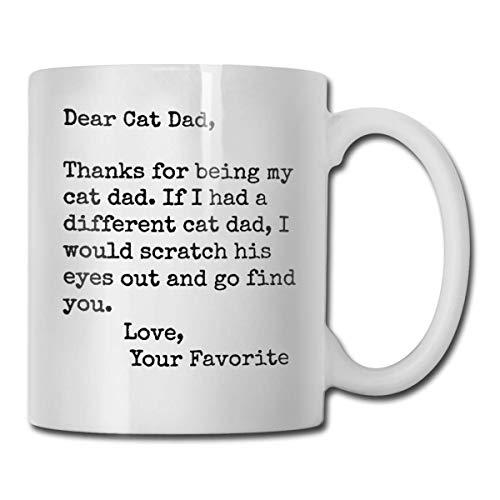 Gracias por ser mi taza de café de papá gato, taza divertida de padres lindos, enfermera blanca, taza de café divertida