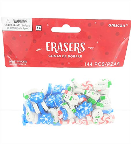 Christmas Erasers 144ct