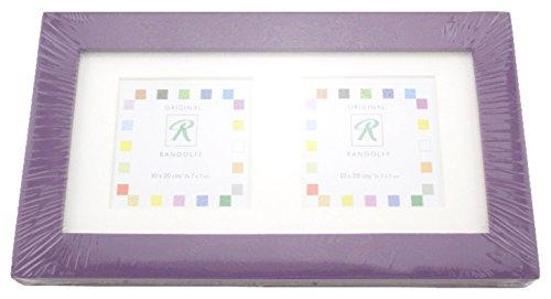 Randolff Original Bilderrahmen - Artica - Fotorahmen - Bilder Rahmen - Holzrahmen - Foto - Holz - 10 x 20 cm - für Bilder 7 x 7 cm - Lavendel