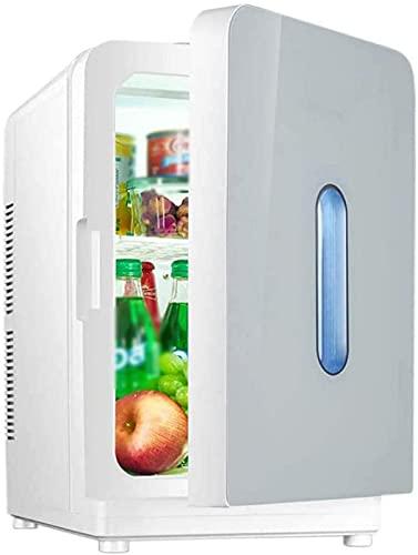 FDGSD Mini refrigerador portátil, refrigerador de Coche, Caja de enfriamiento de congelador de 20L, 12V 220V para Uso doméstico y de automóvil, calefacción de refrigeración de Doble Uso, C