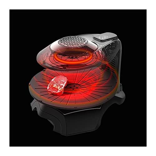 Parrilla con Tecnología Infrarroja 3D Parrilla for Interiores Tiene Una Bandeja for Hornear Giratoria Automática Control Inteligente De Temperatura Adecuado for Reuniones Familiares Y Campamentos