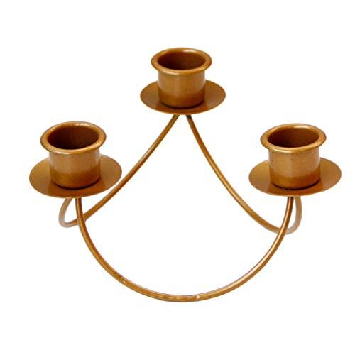 B Blesiya Kerzenständer 3-armig Kerzenleuchter Kandelaber - Dreieck
