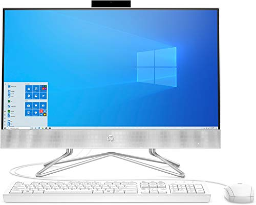 HP 24-df0028ng (23,8 Zoll / Full HD) All-in-One PC (Intel Core i5-10400T, 8GB DDR4 RAM, 256 GB SSD, Nvidia GeForce MX330 2GB, DVD-Writer, Windows 10) weiß