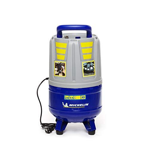 MICHELIN - Compresor de aire portátil MVX24 - Tanque de 24 litros - Sin aceite - Motor de 2 hp - Presión máxima 8 bar - Flujo de aire 160 l/min - 9.6 m³/h