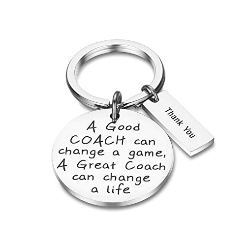 CJ&M Coach Schlüsselanhänger Coach Geschenke A Good Coach Can Change A Game A Great Coach Can Change A Life Dankeschön Geschenk für Trainer