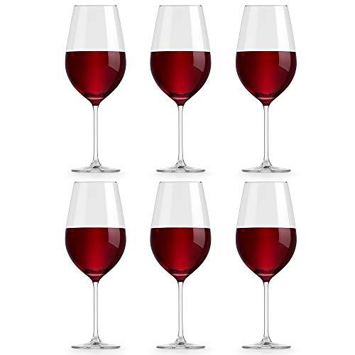 Libbey Bicchiere da vino Atna - 65 cl / 650 ml - set di 6 pezzi - Design classico - Alta qualità - Lavabile in lavastoviglie