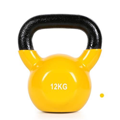 ZXQZ Fitness-Hantel Kurzhanteln, Fitness-Kettlebells für Männer Zu Hause, Matte Griffe, für Schulterdrücken, Ausfallschritte, Liegestütze Kleine Hantel (Size : 12kg)