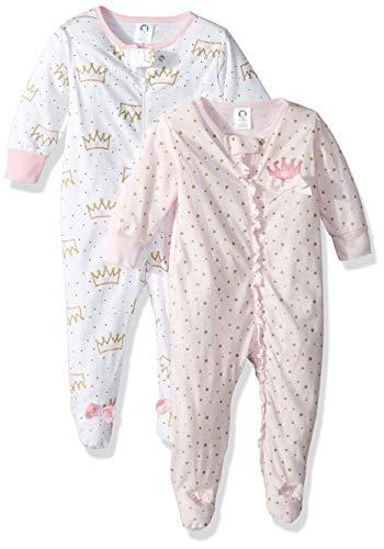 GERBER Baby Girls' 2-Pack Sleep 'N Play, Princess Crown, 0-3 Months