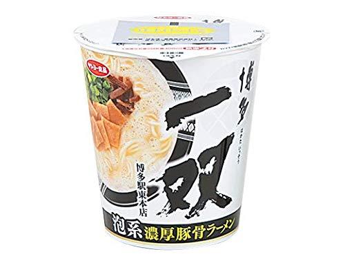 【販路限定品】サンヨー食品 博多一双 泡系濃厚豚骨ラーメン 101g×12個