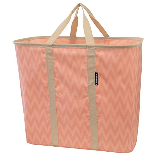 Product Image of the CleverMade Collapsible Laundry Tote, Large Foldable Clothes Hamper Bag,...