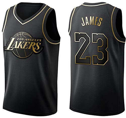 Basketball-Trikot, Nr. 23 James - Lakers, Michael Jordan - Chicago Bulls; Basketball-Shirt / Shorts L Schwarz