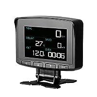 HUDヘッドアップディスプレイ、OBD2デジタルカーコンピュータ自動スピードメーター電子モニタ診断ECUフィルムゲージ