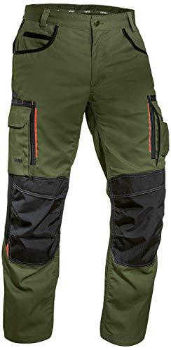 Uvex Tune-up 8909 Pantaloni da Lavoro Multitasche Uomo | Tasche Cordura per Inserire Le Ginocchiere | Pantaloni Cargo - Molte Tasche Laterali | Grigio - Nero - Blu - Verde - Bianco