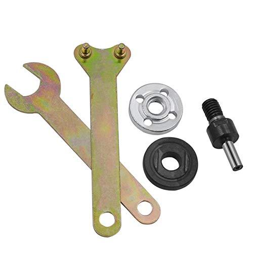 Accesorios para herramientas eléctricas 5pcs 10 mm Taladro eléctrico Ángulo de conversión Barra de conexión de la amoladora para el disco de corte de metales de la rueda de pulido Manija ADAPTADOR DE