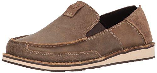 Ariat Men's Cruiser Slip-on Shoe, Brown Bomber/Relaxed Bark, 9.5 D US