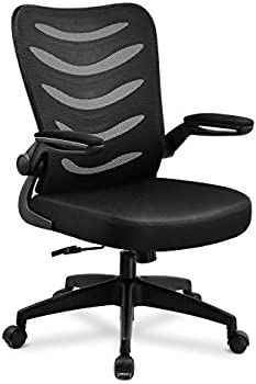 ComHoma Desk Ergonomic Office Mesh Computer Chair With Flip Up Arms