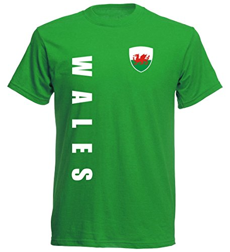 Wales Kinder T-Shirt - TS-10 - EM 2016 - grün - Fussball Trikot (128)