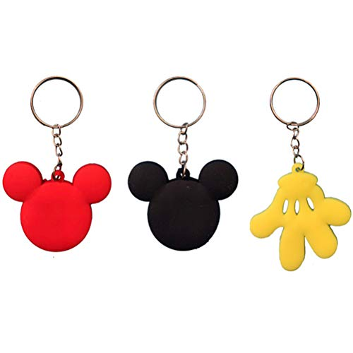 Finduat 18 Pcs Mickey Minnie Mouse Keychains for Mickey Minnie Theme Party Favors Pendant, Birthday Party Supplies, Baby Shower Favors Party Favors for Kid Toy Ornament Souvenirs Gift