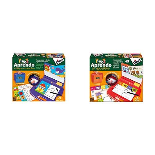 Diset-Yo aprendo a Dibujar, Color Surtido, 318 x 201 x 53 (63757) + Yo Aprendo A Escribir Juego Educativo A Partir de 4 Años