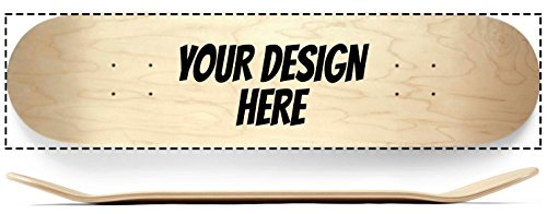 Custom Complete Skateboard - Design Your own Skateboard Deck and Griptape, Complete with Indy Trucks and Spitfire Wheels