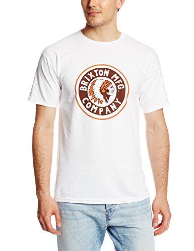 BRIXTON T-Shirt Rival pour Homme, Blanc, M