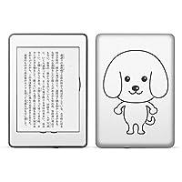 igsticker kindle paperwhite 第4世代 専用スキンシール キンドル ペーパーホワイト タブレット 電子書籍 裏表2枚セット カバー 保護 フィルム ステッカー 016085 犬 かわいい