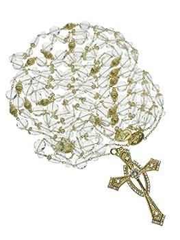 DivaDesigns Hispanic Traditional Wedding Crystal and Cross Lasso 107 - Gold Tone/AB
