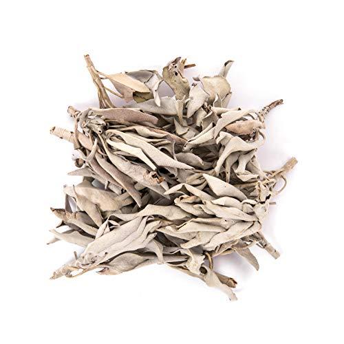 Juniper Ridge | White Sage Loose Leaves | Salvia Apiana Clusters | Dry Burning White Sage | 1 Lb Bag
