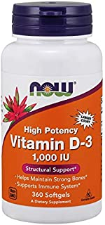 Now 1000 Iu Vitamina D-3 360 Softgels - 600 g