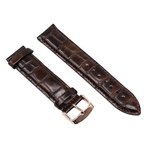 13 millimetri cinturini in vera pelle marrone cinghie di sostituzione...